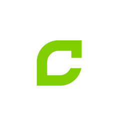 Green letter c logo icon design vector