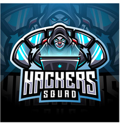 Hackers esport mascot logo design vector