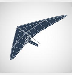 hang gliding logo icon vector image