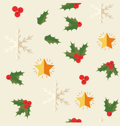 happy new year symbols seamless pattern vector image