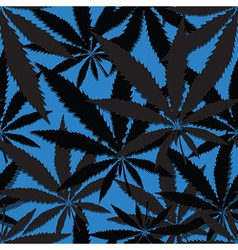 Hemp floral seamless background cannabis leaf vector