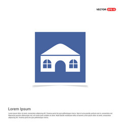 home icon - blue photo frame vector image