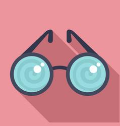 Hypnosis eyeglasses icon flat style vector