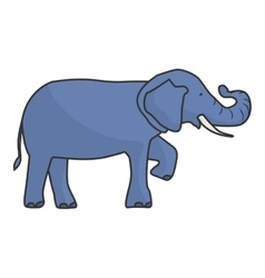Isolated elephant draw vector