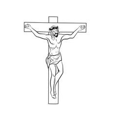 Jesus on cross crucifixion jesus on cr vector