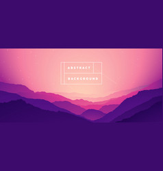 landscape mountain abstract gradient bg vector image