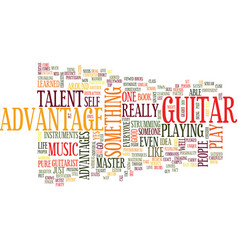 Learn master guitar text background word cloud vector