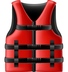 Life jacket vector image