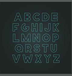 modern neon font - creative design trendy vector image