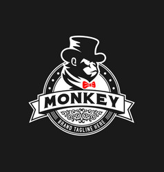 monkey logo design vector image