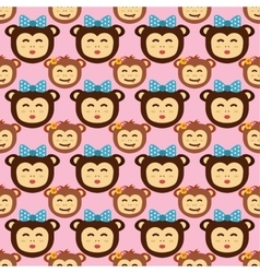 Monkey seamless pattern vector