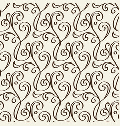 monochrome floral vintage seamless pattern vector image