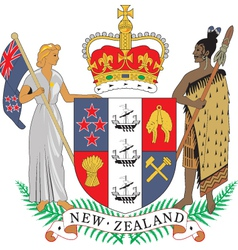 New Zealand Coat-of-Arms vector image