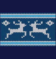 nordic knitted pattern vector image