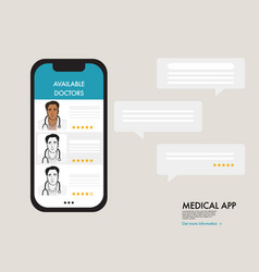 online doctor support therapy virtual healthcare vector image