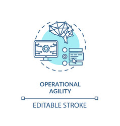 Operational agility turquoise concept icon vector