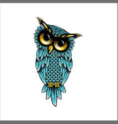 Owl logo design vector