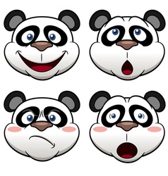 Panda face vector