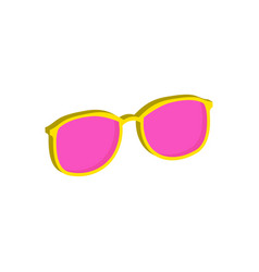 Pink glasses eyeglasses symbol flat isometric vector