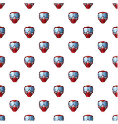 Red mask for paintball pattern vector
