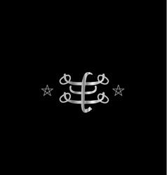 Ringstone symbol- Bahai religious icon vector