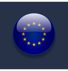 Round icon with flag of Europe vector image
