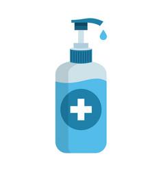 Sanitizer icon antibacterial soap bottle vector