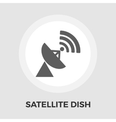 Satellite antenna flat icon vector image
