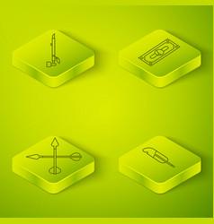 Set isometric stacks paper money cash crossed vector
