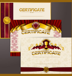 Set of elegant templates vector