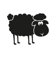 sheep stencil vector image