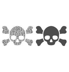 Skull crossbones composition binary digits vector