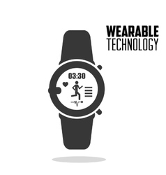 Smart watch fitness health wearable technology vector