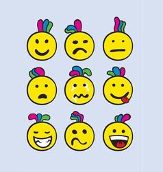 Smile set vector