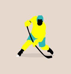 Stylish a hockey player vector