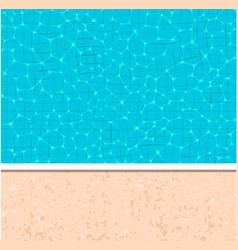 Summer pool party banner with space for text vector