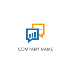 talk consulting business logo vector image