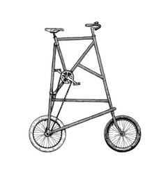 Tall bike vector