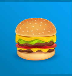 tasty classic burger vector image