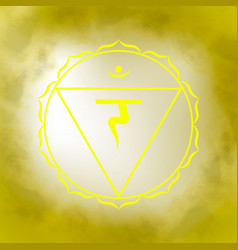 third solar plexus chakra - manipura vector image