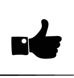 thumbs up icon like icon dislike icon design vector image