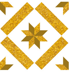 tile decorative gold floor tiles pattern vector image