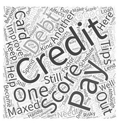 Tips on how to improve your credit score Word vector image