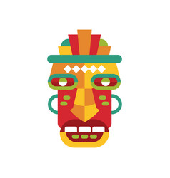 Traditional colorful tribal ritual mask vector
