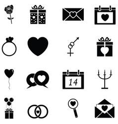 Valentine day icon set vector