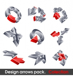 vector arrows design elements vector image