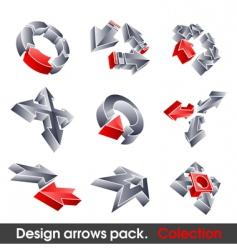 vector arrows design elements vector image vector image