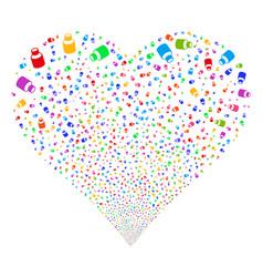 vial fireworks heart vector image