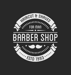 Vintage barber shop logo and beauty spa salon vector