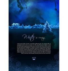 Watercolor Winter Night Flyer vector image